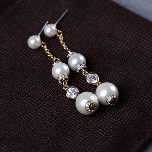Kate Spade Pearls Linear Huggies Earrings